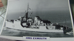 HMS Exmouth 1955 Frigate warship framed picture (10)